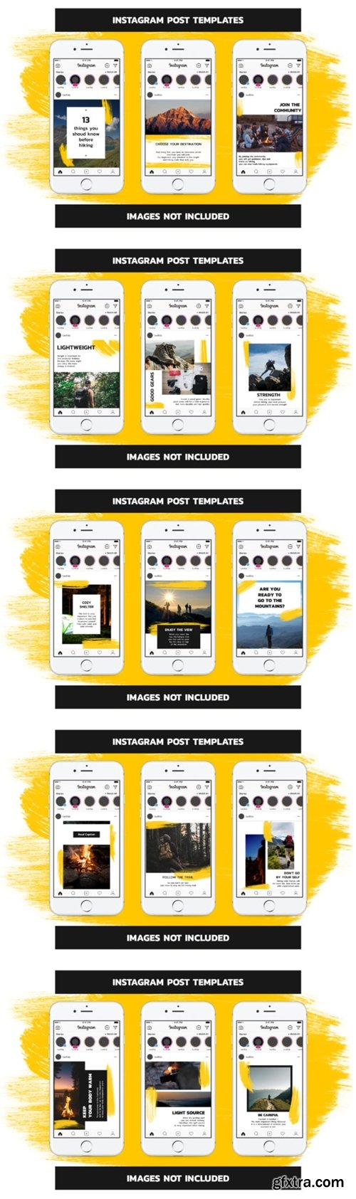 Hiking Instagram Templates