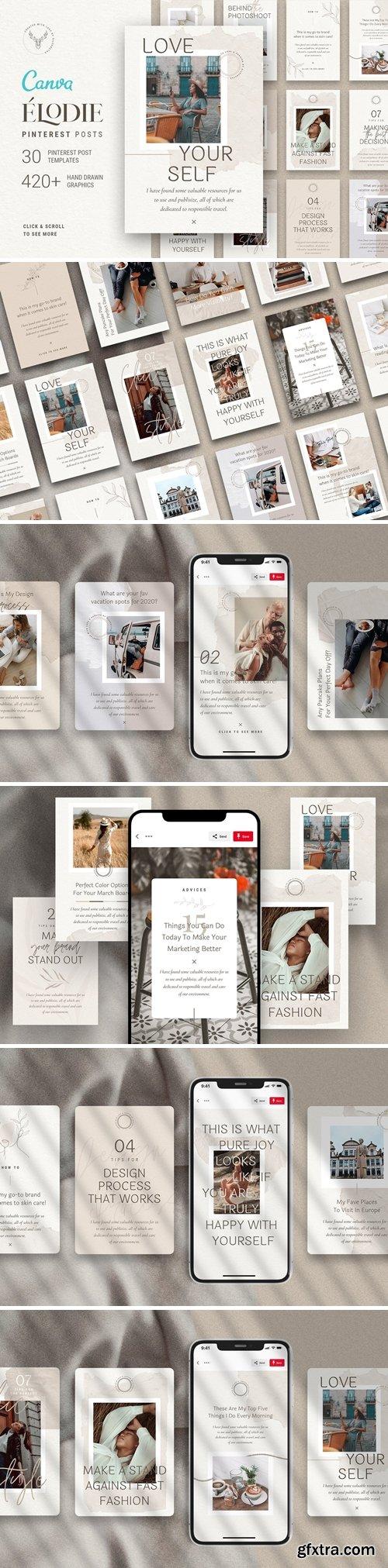 CreativeMarket - Elodie - Canva Pinterest Templates 4758292