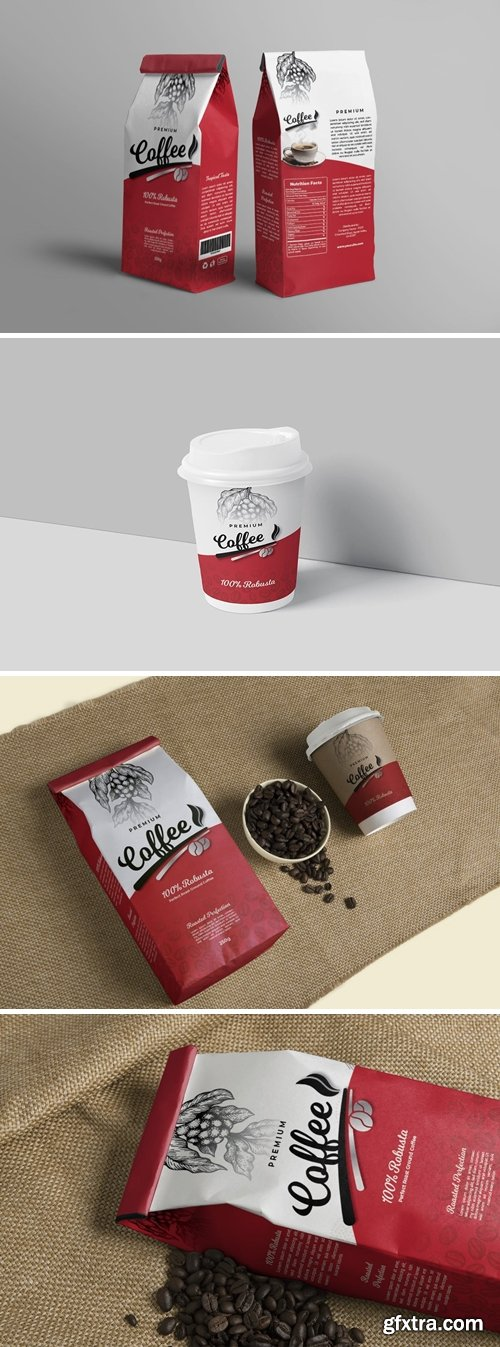 Premium Coffee Packaging & Cup Label Design
