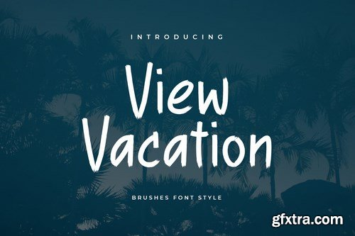 View Vacation Brush Font