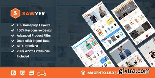 ThemeForest - Sawyer v3.0.0 - Multipurpose Responsive Magento 2 and 1.9 Theme - 15638656
