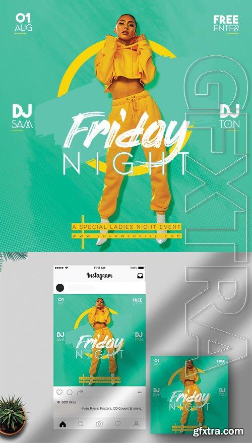 Friday Night - Premium flyer psd template
