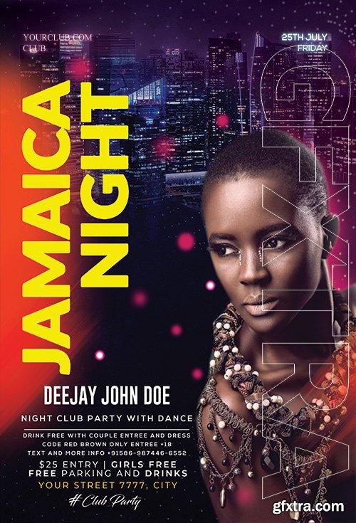 Jamaica Night - Premium flyer psd template