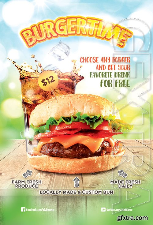 Burger Time - Premium flyer psd template