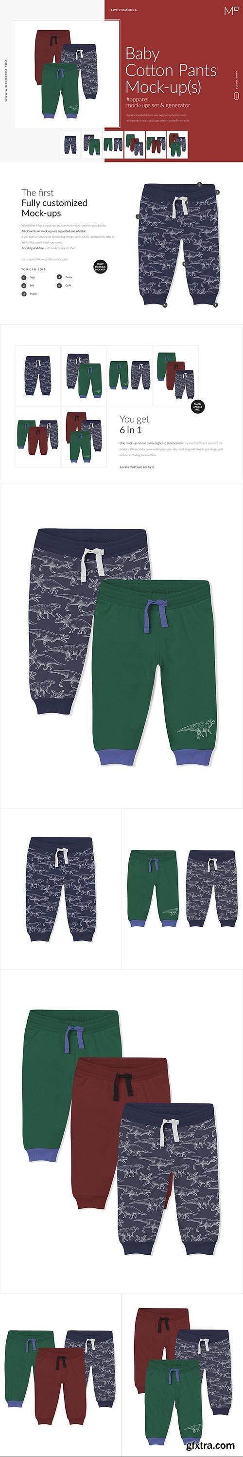 CreativeMarket - Baby Cotton Pants Mock-ups Set 4662197
