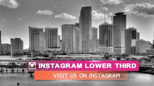 Clean and simple social media lower third pack - 10732610