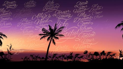 Tropical Sunset Logo Opener - 10728585