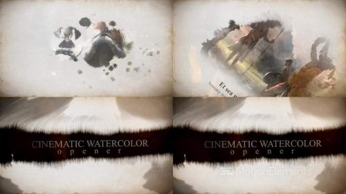 Cinematic Watercolor Opener - 10708063