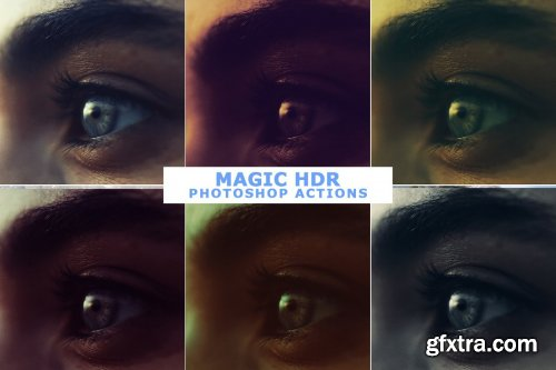CreativeMarket - 50 Magic HDR Photoshop Actions 4599059