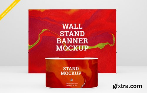 Roll up banner and stand banner mockup