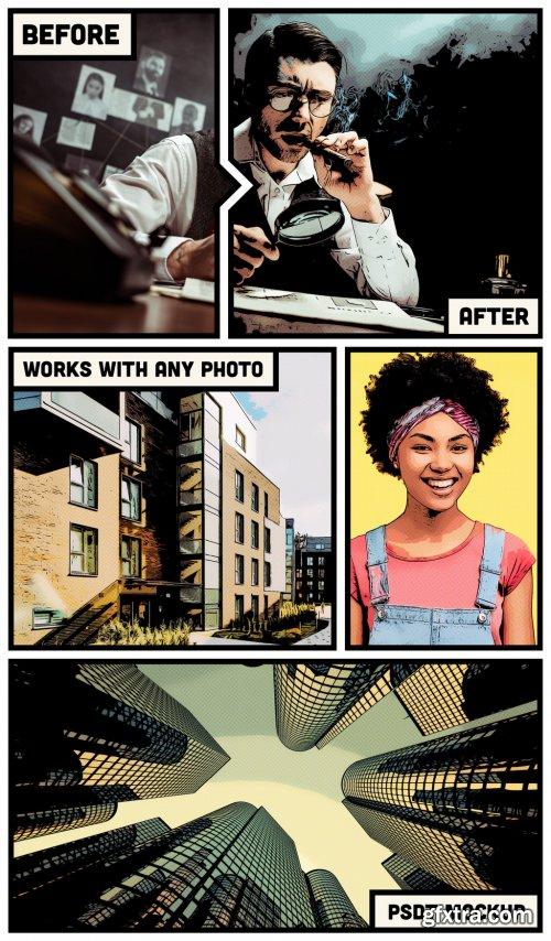 Photo Comic Effect Mockup 328145235