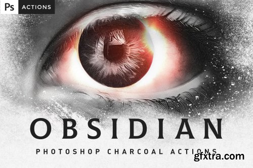 CreativeMarket - OBSIDIAN Charcoal Photoshop Actions 4530907
