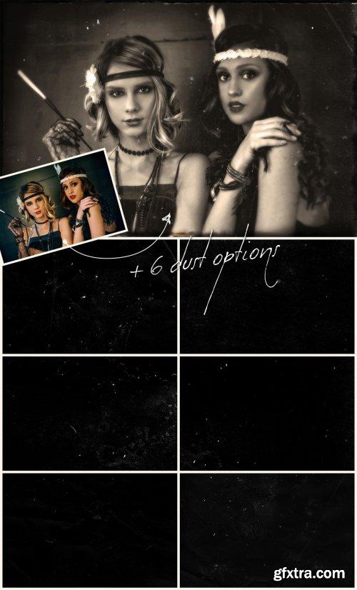Realistic Vintage Photo Effect Mockup 328579710