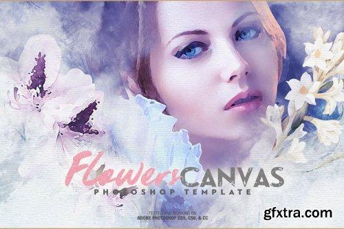 CreativeMarket - Flowers Canvas Photo Template 4604381