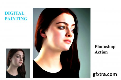 CreativeMarket - Digital Painting Photoshop Action 4557382