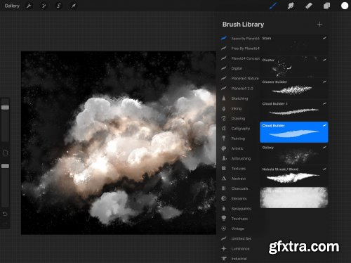 CreativeMarket - Clouds & Space - procreate brushes 4536290