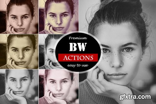 CreativeMarket - BW Actions for Photoshop 4518460