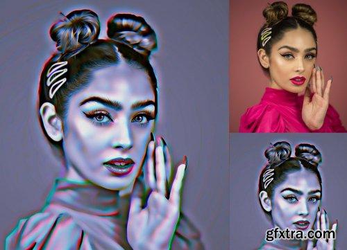 CreativeMarket - 3D Painting Photoshop Action 4519697