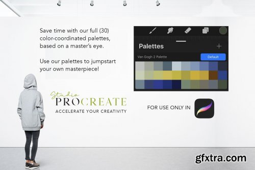 CreativeMarket - Procreate Color Palette - VanGogh2 4579624