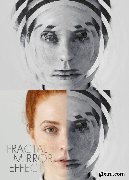Photo Fractal Mirror Effect Mockup 331497867