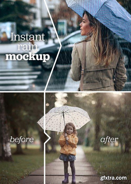 Image Overlay Rain Effect Mockup 332751809