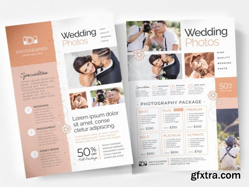 Texture Flyer Layout with Tan Sidebar Element 333031505