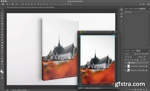 CreativeMarket - Portrait Canvas Ratio 2x3 Mockup 02 4637526