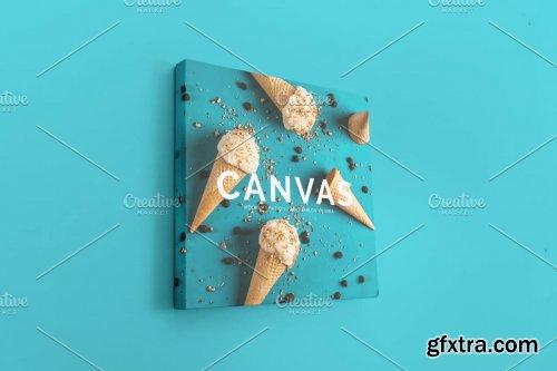 CreativeMarket - Square Canvas Ratio 1x1 Mockup 04 4414718