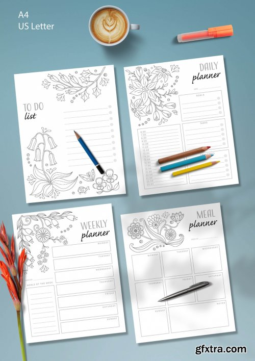 Coloring Planner Layout 333498315