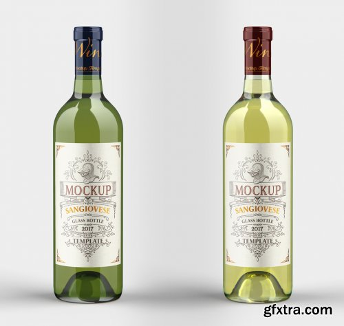 White Wine Bottle Mockup 333542981