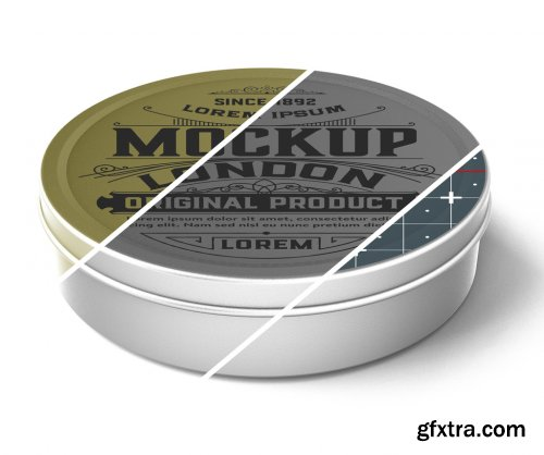 Colored Metal Tin Mockup 333539101