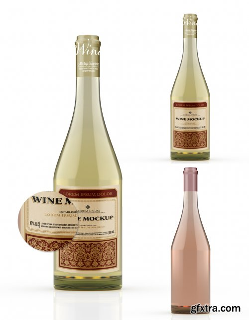 White Wine Bottle Mockup 333537304