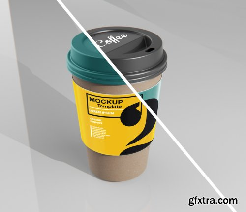 Paper Coffee Cup with Sleeve Mockup 333537285