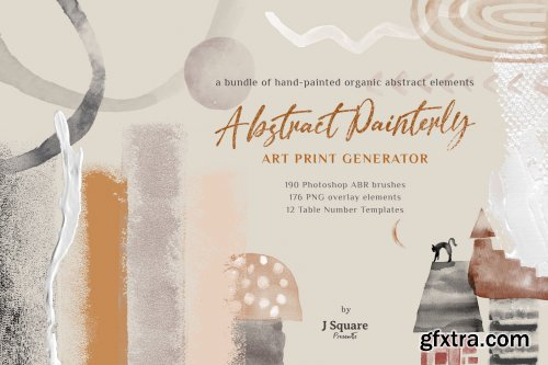 CreativeMarket - Abstract Watercolor PSD Brushes 4604610