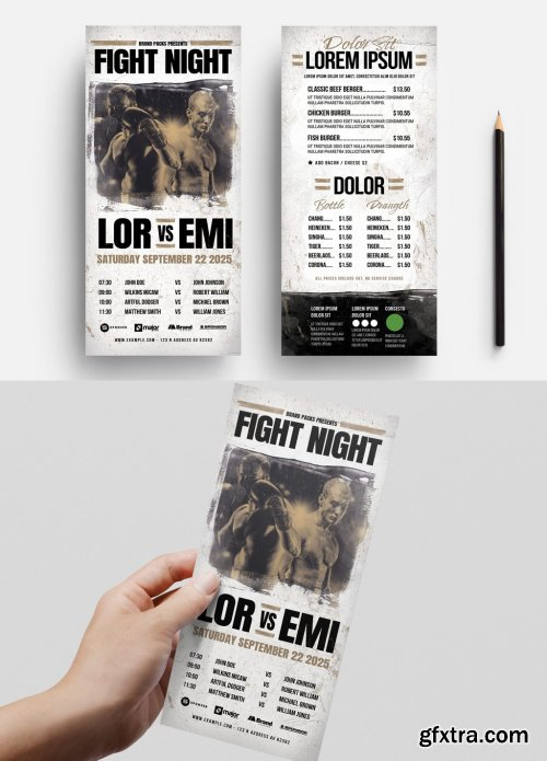Boxing Rack Card Layout 334302355