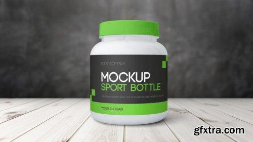 Gym protein bottle mockup