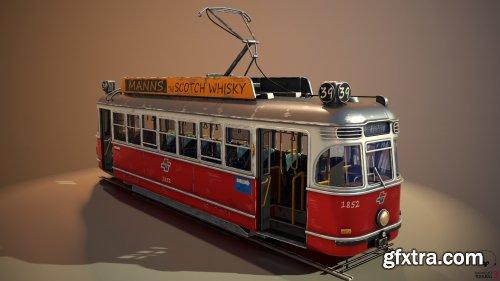 Stylized tram