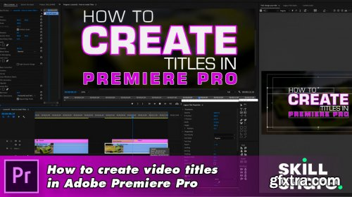 How to create video titles in Adobe Premiere