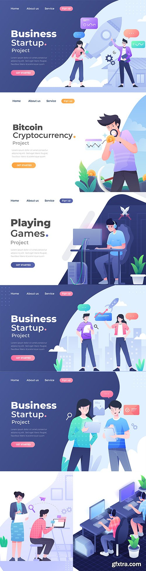 Unique modern flat concept of mobile site operation