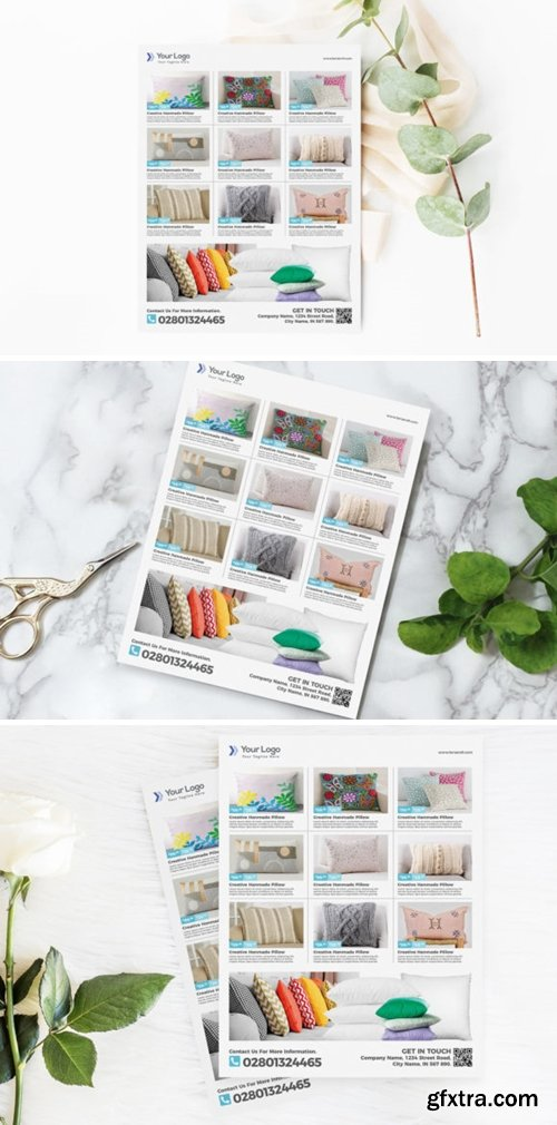 Pillow Product Flyer Promotion Template 3776035