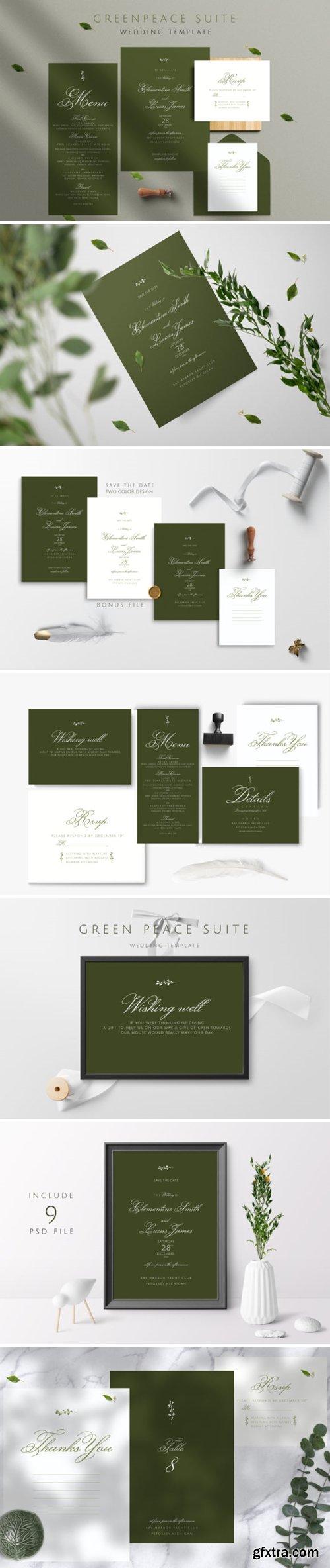 Greenpeace Wedding Invitation Template 3777550