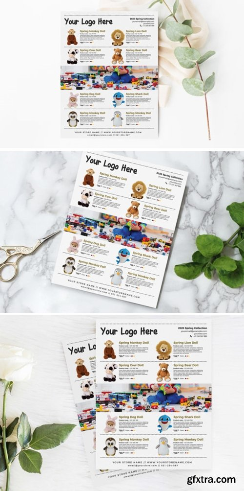 Toys and Dolls Product Flyer Template 3776295