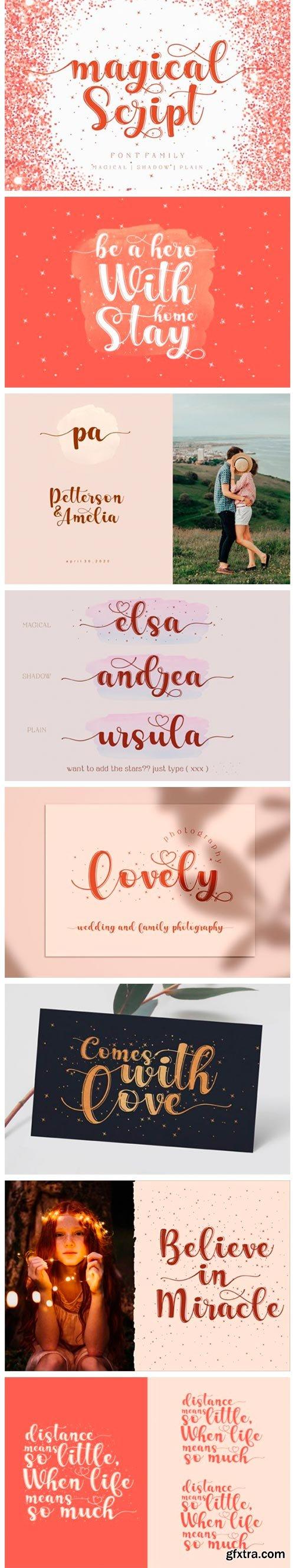 Magical Script Font