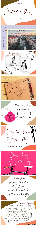 Instalove Diary Font