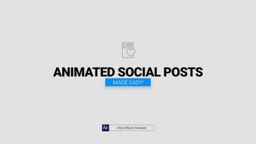 Videohive - Animated Social Posts