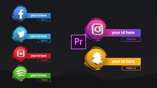 Videohive - Social Media 3D Lowerthirds - Premiere Pro
