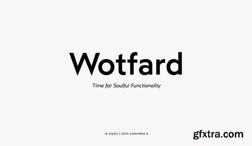 Wotfard Font Family