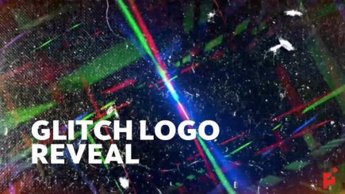 Videohive - Glitch Logo Reveals