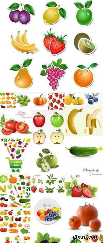 Fruits And Vegetables  – 25 Vector