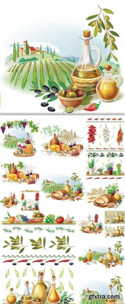 Still Life With Country Food – 13 Vector
